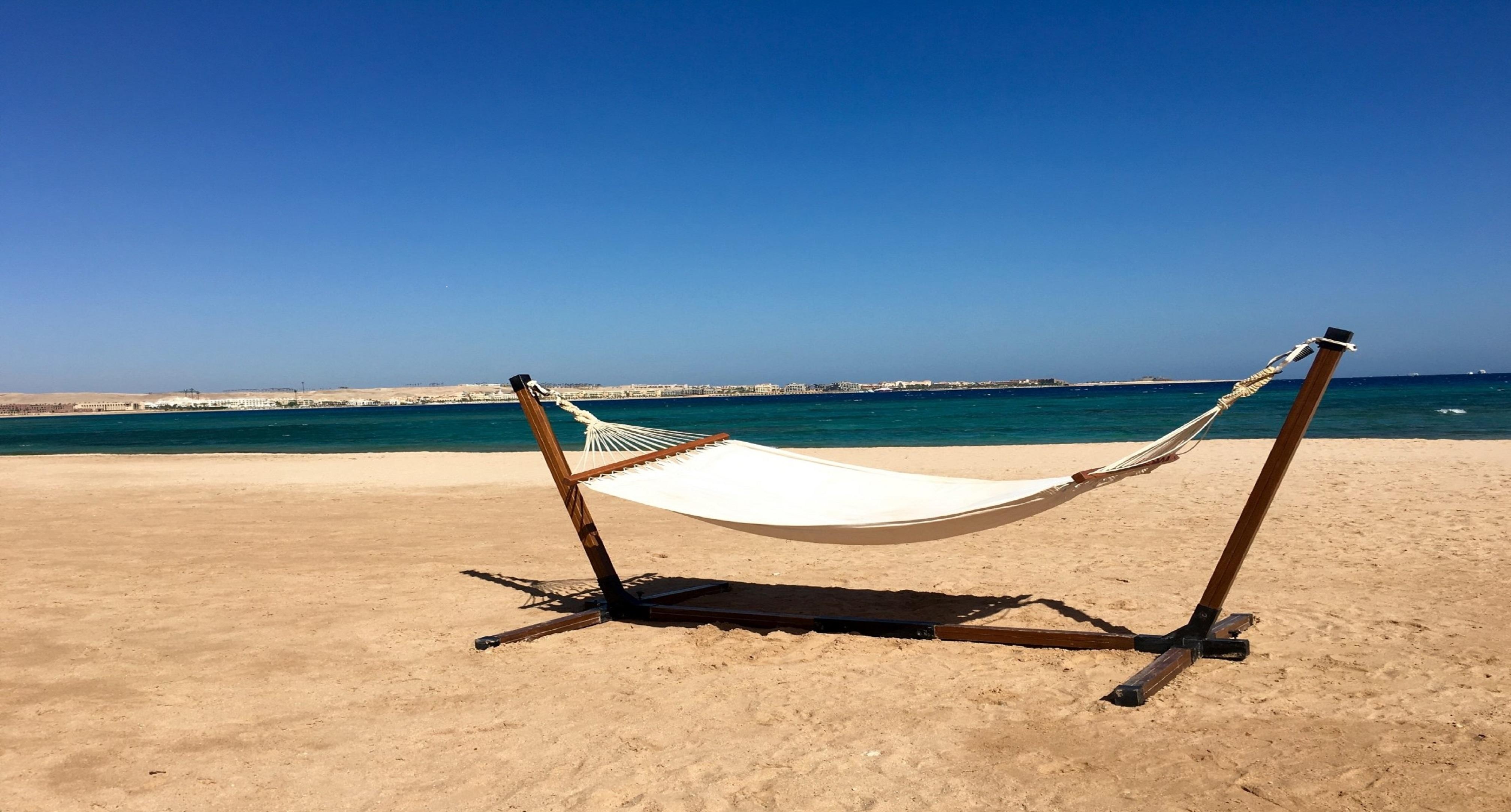 Hängematte am Strand Tunesien