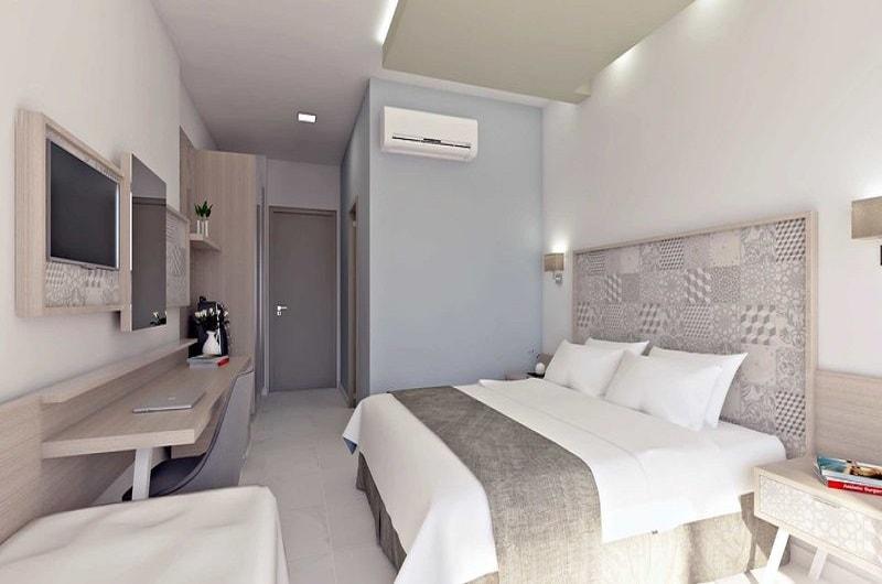 Neueröffnung Hotel Vantaris Blue Erwachsenenhotel Kreta Pauschalreise Angebot günstig buchen Zimmer mit Doppelbett-min