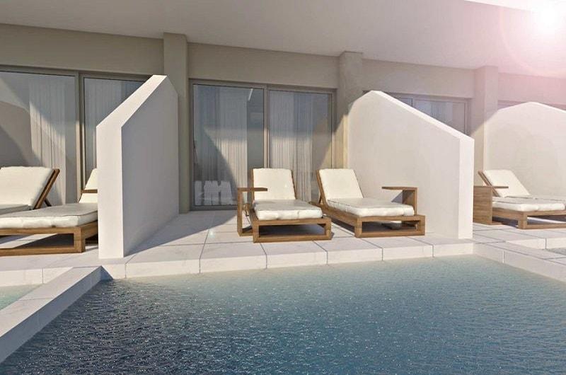 Neueröffnung Hotel Vantaris Blue Erwachsenenhotel Kreta Pauschalreise Angebot günstig buchen Zimmer mit Terrasse und Private Pool-min