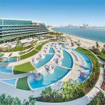 Neueröffnung W Dubai The Palm Jumeirah Dubai Hotel Pauschalreise Angebot Außenanlage Pools Meer Sandstrand-min
