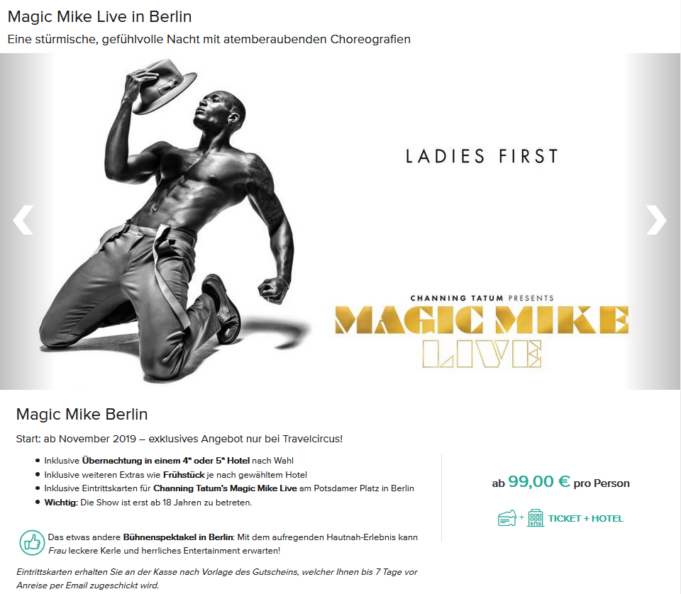 Magic Mike Berlin Tickets